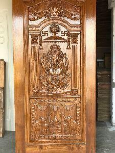 Teak Wood Modern Designer Doors Manufacturer In Jamnagar Gujarat India Id 4495861 Front Door Design Wood Main Door Design Wooden Main Door Design
