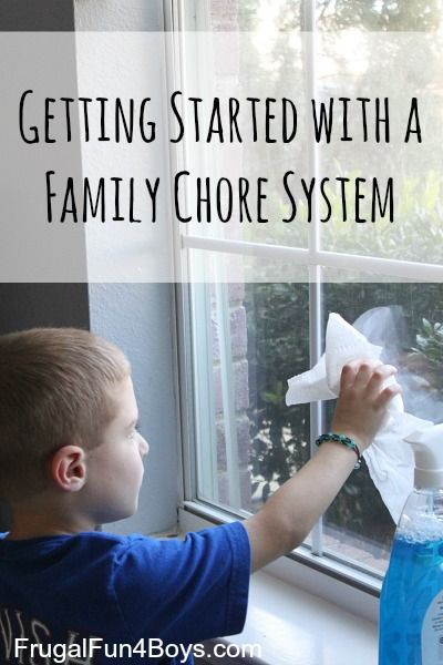 Chores for Kids: Getting Started with a Family Chore System - Frugal Fun For Boys and Girls