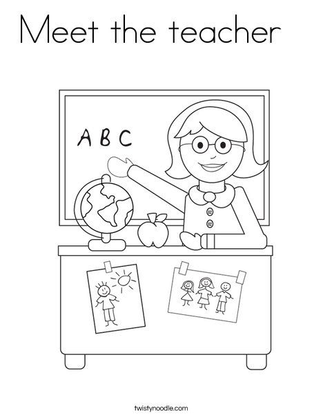 Meet The Teacher Coloring Page Twisty Noodle Welcome To Preschool Kindergarten Coloring Pages Welcome To Kindergarten
