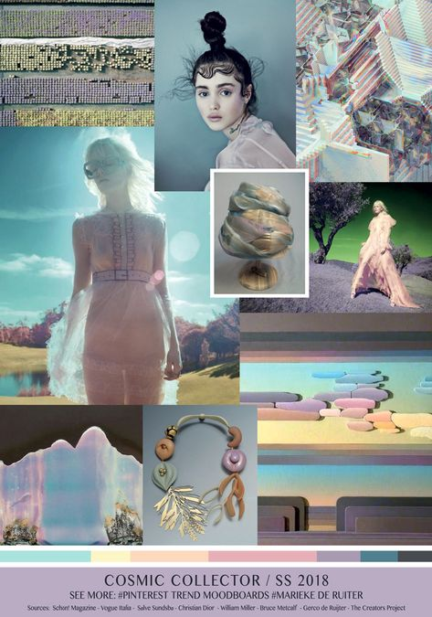 Awesome TrendSenses Moodboard Cosmic Collector Trend SS 2018 Check more at fashionie.