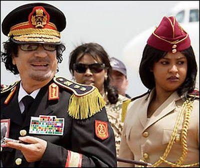 Muammar Gaddafi female-bodyguard 女警衛 | Iconic photos, African royalty, Hot  army