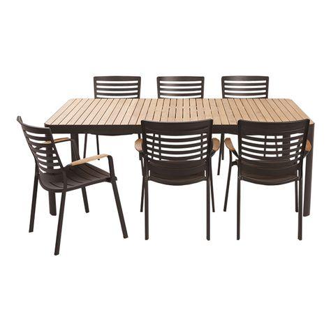 Salon De Jardin En Bois Collection Kea Castorama Table De