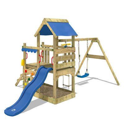 Wickey Spielturm Klettergerust Turboflyer Mit Schaukel Und Blauer Rutsche 4250533947419 Ebay Wickey Spielturm Spielturm Klettergerust