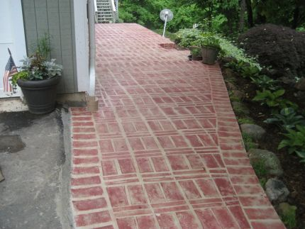 Faux Painted Walkway | The Great Outdoors | Pinterest | Walkways, Yards And  Bricks