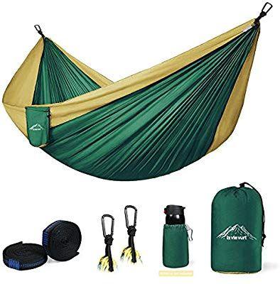 Amazon Com Lavievert 118 X 78 Double Camping Hammock Lightweight Portable Hammock Best Parachute Doubl Hammock Camping Double Camping Hammock Double Hammock