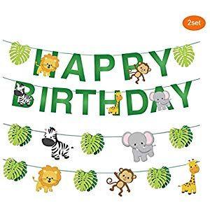 Bunting Banner Animals Flag Garland Banner For Children Birthday Party Decor B1