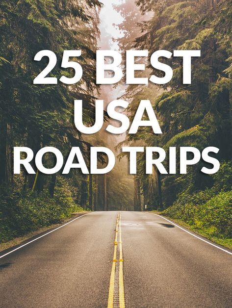 These are the best road trips in the USA. These 25 road trips are some of the most famous and unique trips you'll ever take. #Vacation #Roadtrip #USA