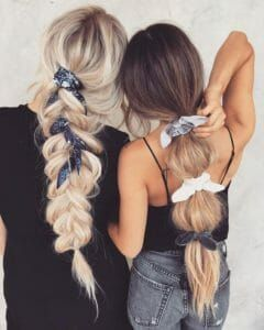 Head scarf and Bow accessories are super fun! Headscarf tying hairstyles add the cutest hair accessory to any look! Try this boho style! #headband #hairstyles #headband #braid #topknot #Headbands #Headband #HairBowInspiration #headscarfstyles #headscarf #headscarfstylesfornaturalhair #Hairbandana #hairstyles #shorthairstyles #hairstylesforgirls #hairtie #hairscarf #silkhairscarf #hairscarfstyles #hairbun