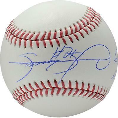 Sammy Sosa Chicago Cubs Signed Baseball With 609 Hr Insc Fanatics Sportsmemorabilia Autograph Baseball Autographed Baseballs Cubs Team Baseball Signs