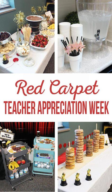 Red Carpet Teacher Appreciation Week | PTA Activities | Teacher Gifts | Teacher Luncheon | Teacher Snacks