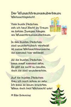 Der Wunschtraumzauberbaum Weihnachtsgedichte Gedicht