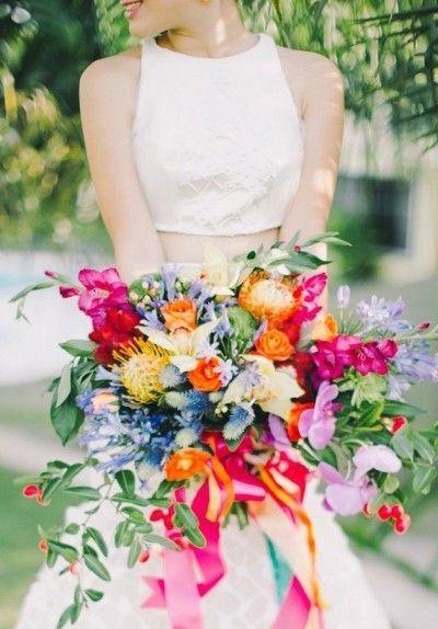 A Bright Rainbow Wedding Theme Full Of Colour Boho Wedding