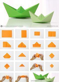 Barco De Papel Paso A Paso Origami Paper Boat Origamipaper