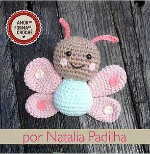 Crochet Butterfly Keychain in 2020 | Crochet keychain pattern ... | 302x294