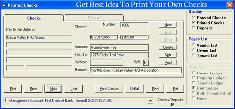 how to print your own checks