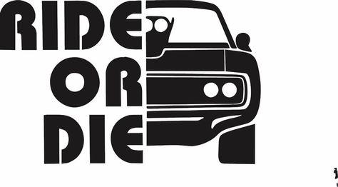 Ride Or Die Fast And Furious Vinyl Window Sticker Funny Vin Diesel