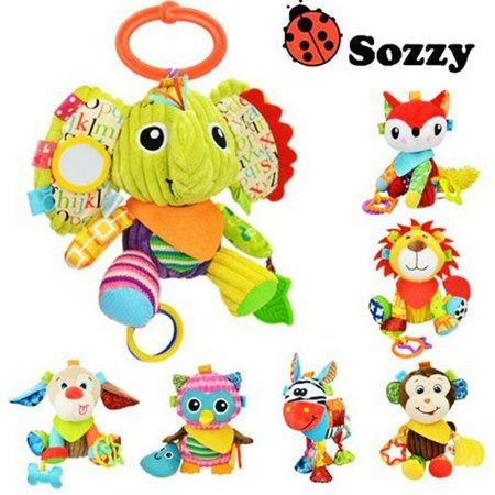 Infant Baby Crib Stroller Toy Plush Owl Butterfly Musical Bed Hanging Rattle Q