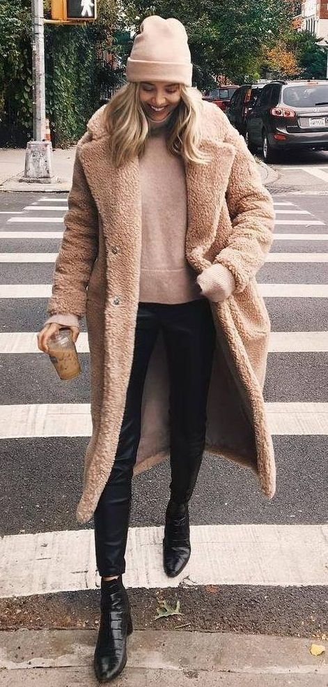 on feet at great deals new cheap long teddy bear coat. #winterstyle #streets | Stylish winter coats ...