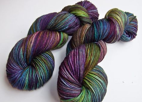 **Extra large 120gram skein of DK gives you extra yardage to complete a pair of socks or other project. The usual put-up is 100g/235yds. This