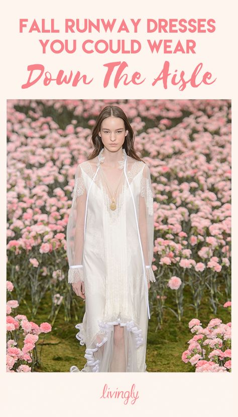 Typically, you need to make an appointment with a bridal salon to find the dress for your big day. But what if your dream gown came straight from the runway? What if you could purchase it off the rack at your nearest Neiman Marcus? After seeing a sneak peak of the collections for Fall 2018, it's certainly possible.