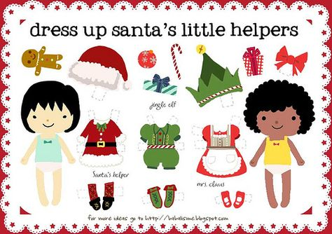 free set of Christmas Paper Dolls and another free Decorate A Tree set