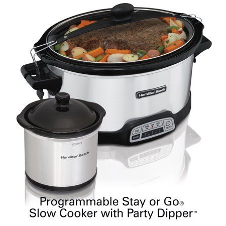 Hamilton Beach 7 Quart Stay Or Go Programmable Slow Cooker With