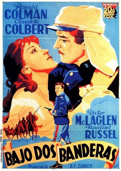 Bajo Dos Banderas 1936 Tt0028442 Esp C Ronald Colman Foreign Movies Movie Posters
