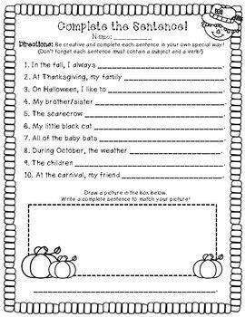 Complete Vs Incomplete Sentences Finish The Sentence Activity Worksheet Sentence Activities Incomplete Sentences Complete Sentences Activities