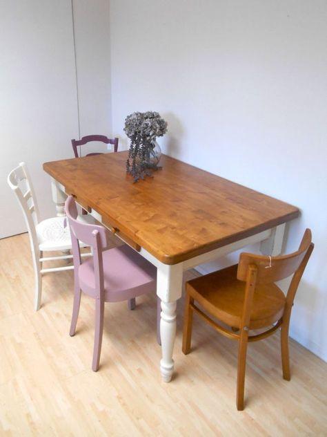 Frisch aus der Werkstatt: Esstisch mit gedrechselten Beinen und wunderschöner Tischplatte! Shabby Chic Style, LAndhaus, used Look.