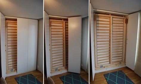Lit Escamotable Ikea Diy Avec Une Armoire Pax Lit Escamotable
