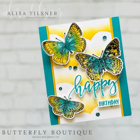 Stampin' Up! Butterfly Brilliance Birthday Card - Alisa Tilsner