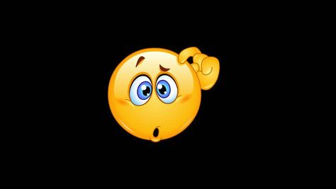 Ad: Animation of a confused emoticon scratching his head including alpha channel