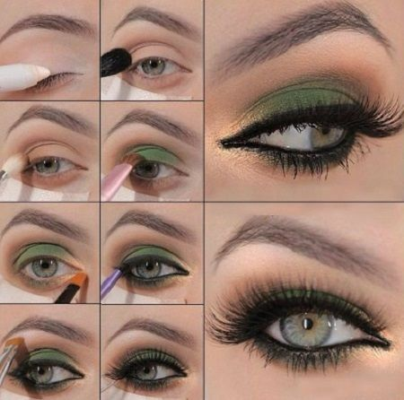 Maquillaje De Noche Para Ojos Verdes Gold Eye Makeup Tutorial Makeup For Green Eyes Eye Makeup