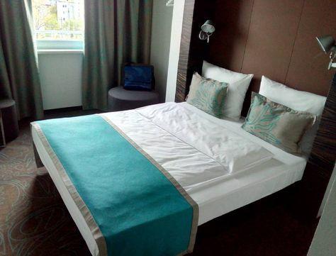Das war mein ziemlich kleines Hotelzimmer auf der #denkst Für diese