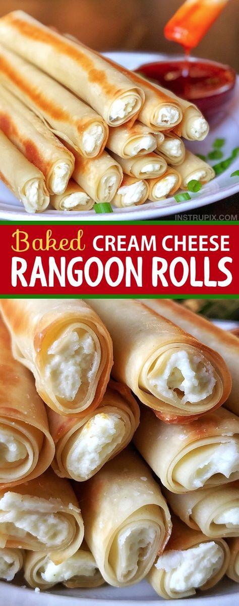 Just like Panda Express, but with a fun twist! {Baked Cream Cheese Rangoon Rolls}