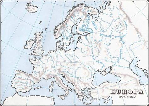 Mapa Fisico America Mudo Pdf.Resultado De Imagen De Mapa Fisico De Europa Para Imprimir