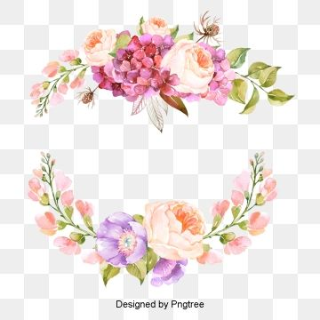 Millions Of Png Images Backgrounds And Vectors For Free Download Pngtree Floral Painting Flower Frame Flower Border