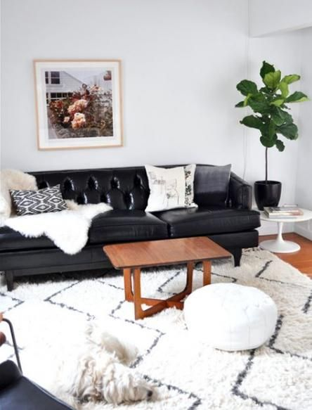 Best Apartment Living Room Black Couch Furniture 30 Ideas Leather Couches Living Room Couches Living Room Living Room Decor