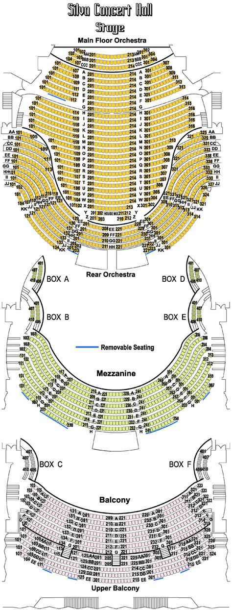 Hult Center Seating Chart If Anyone Every Needs To See It Here In Oregon In Eugene Seating Charts Playhouse In The Park Seating