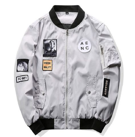 Cheap mens bomber jacket, Buy Quality designer mens jackets directly from China mens designer jackets Suppliers: Grandwish Fashion Men Bomber Jacket Hip Hop Patch Designs Slim Fit Pilot Bomber Jacket Coat Men Jackets Plus Size Bomber Coat, Bomber Jacket Men, Bomber Jackets, Men's Jackets, Cargo Jacket, Leather Jacket, Bomber Jacket With Patches, Casual Jackets, Cool Jackets