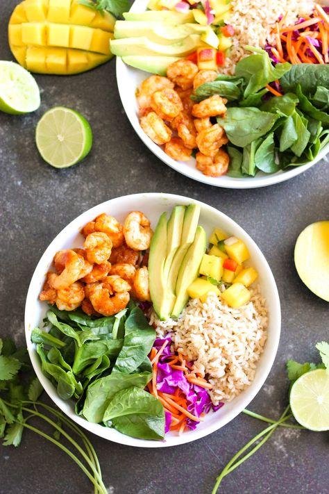 Shrimp Protein Bowl with Mango Salsa