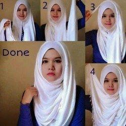Tutorial Hijab Simple Wajah Kecil Hijab Style Tutorial Simple Style Outfits Fashion
