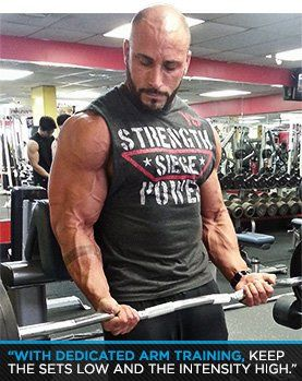 Get Big Arms Noah Siegel S Sleeve Busting Workout Bodybuilding Com Get Bigger Arms Bigger Arms High Intensity Workout