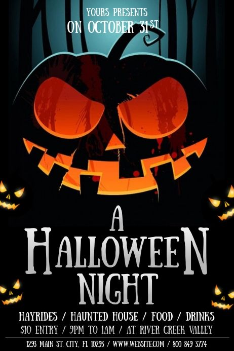 Halloween Event Templates Halloween Party Poster Halloween Flyer Halloween Event Halloween party flyer templates