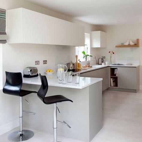 White-Modern-Breakfast-Bar-Kitchen-Beautiful-Kitchens-Housetohome - k chen mit theke