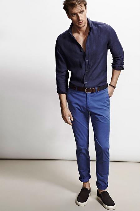 Cómo combinar bien el color Azul look azul