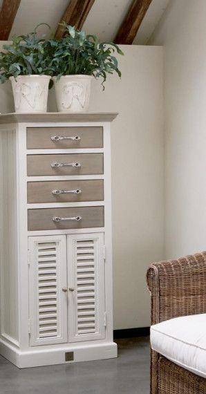 Riviera Maison Long Key Chest Drawer Doors Top In 2020 Lamellenturen Schubladen Kommode