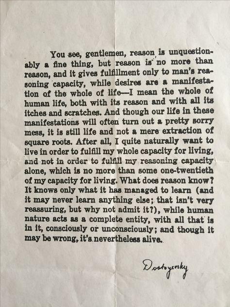 My favorite Dostoyevsky