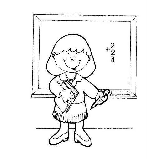 Oficios Y Profesiones Para Colorear Oficios Y Profesiones Dibujos De Profesiones Maestra Para Colorear