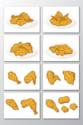 Fried Chicken Food Hand Drawn Vector Png Images Ai Free Download Pikbest Food Fried Chicken Chicken Drawing